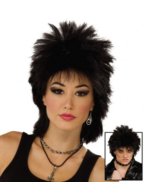 Adults 80s Rock Idol Wig 80s Disco Pop Retro Fancy Dress